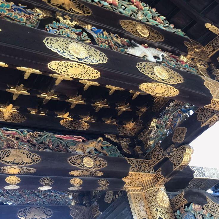 Chateau de Nijo-jo, détail de la porte d'entrée