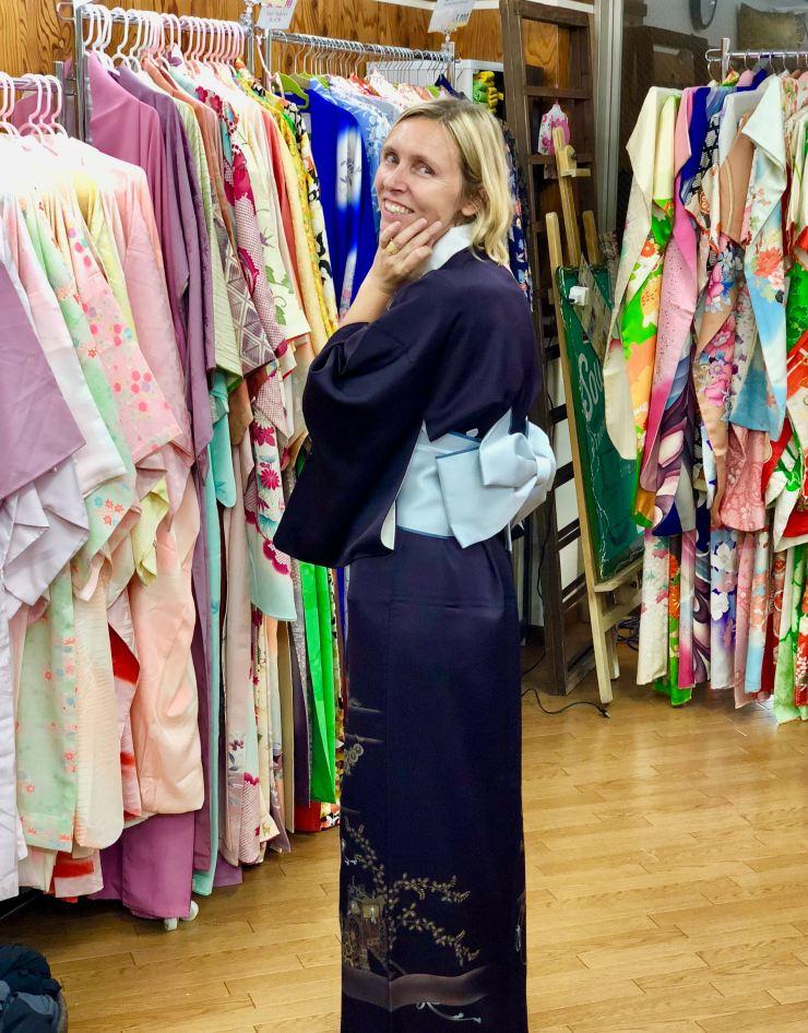 Essayage de Kimono