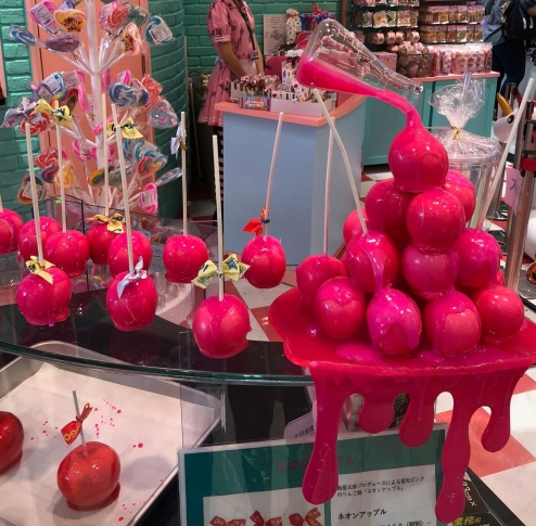 Pommes d'amour fluos