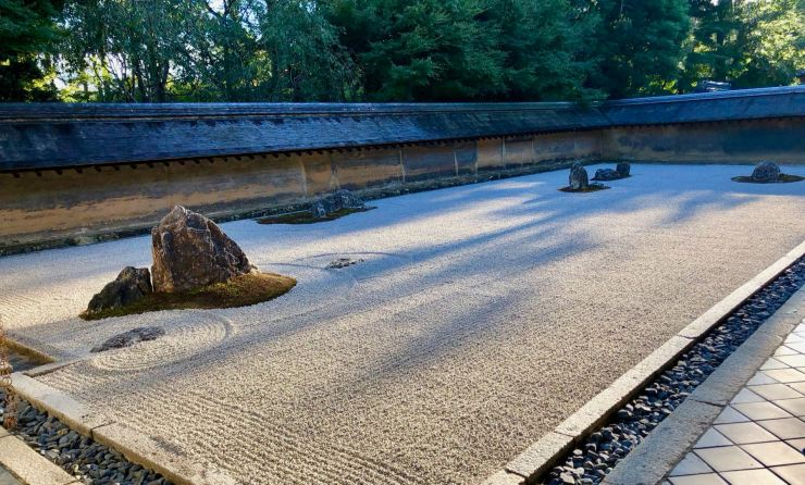 Le Ryoanji et son «Jardin de pierres».