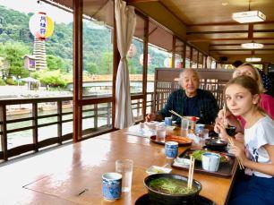 Vieux Guide, pâtes vertes et Vue sur le fleuve, Uji