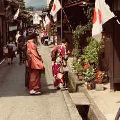 Rues typiques de Takayama et Kimonos traditionnels