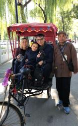 Notre Pousse-Pousse dans les Hutongs - Pekin - Chine