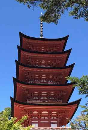 Pagode à 5 étages du Senjokaku (temple Shinto) - Miyajima