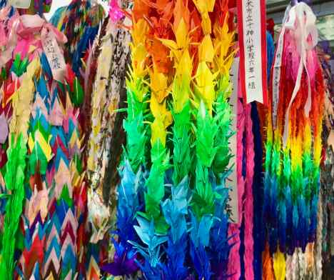 Grues en origami - Hiroshima