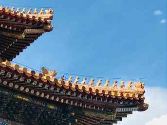 Tuiles sculptées - Cité Interdite - Pékin - Chine