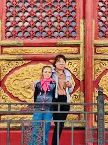 Eden pause avec sa nouvelle amie Chinoise - Cité Interdite - Pékin - Chine