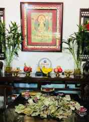 Temple dans une maison - Hutong - Pekin - Chine