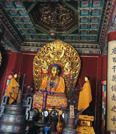 Bouddha dans le temple des Lamas - Pékin - Chine