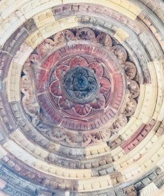 Plafond d'un cénotaphe - Lodi Garden - Delhi - Inde