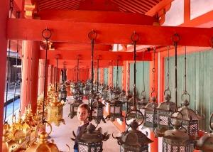 Eden au milieu des lanternes du sanctuaire Kasuga - Nara