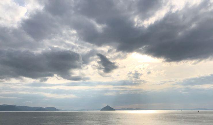 En route vers Naoshima, vue depuis le ferry