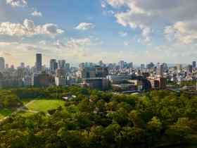 Vue d'Osaka depuis le chateau