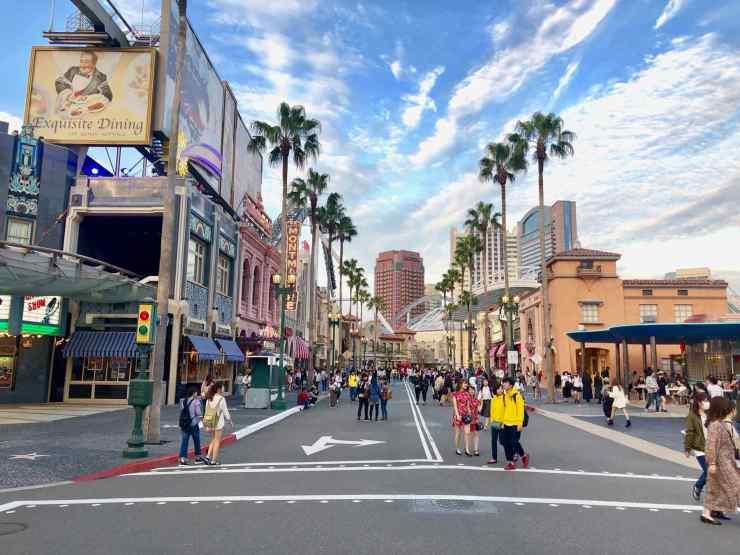 Universal Studio Japan, vue d'une rue