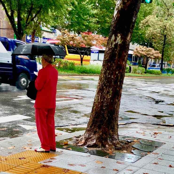 Séoul sous la pluie