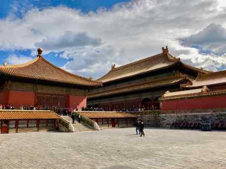 Vue d'ensemble d'une des places principales - Cité Interdite - Pékin - Chine
