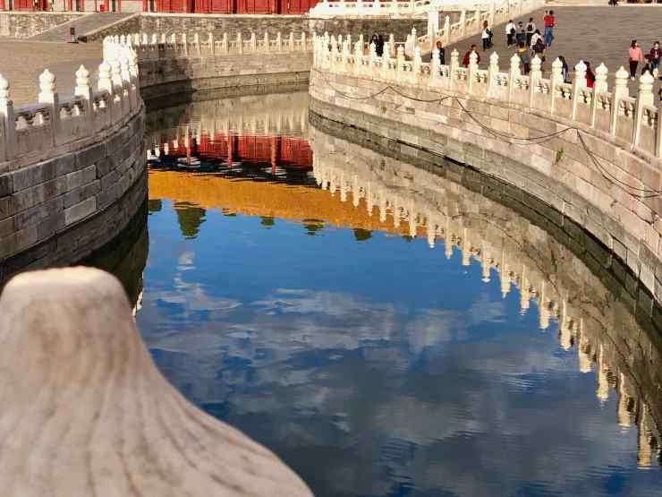 Reflet : Pavillon de l'Harmonie suprême - Cité Interdite - Pékin - Chine