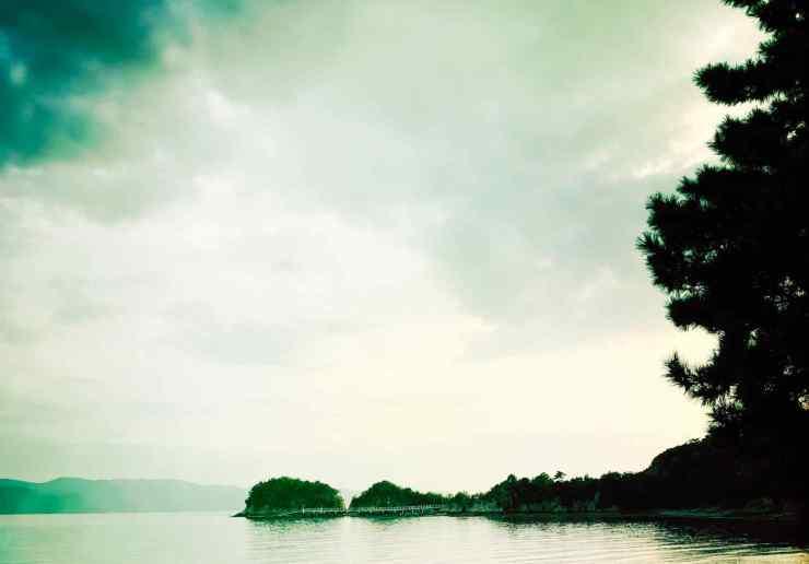 Naoshima - Vue de la plage - Zen