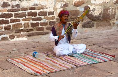 Musicien à l'entrée du fort - Jodhpur - Rajasthan - Inde