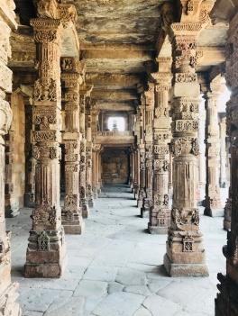Piliers de la Mosquée du Qutb Minar - Delhi - Inde