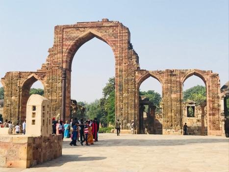 Vestiges de la mosquée du Qutb Minar - Delhi - Inde