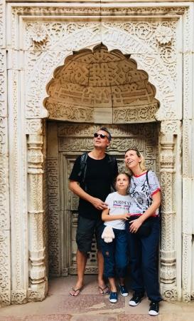 Mais qu'est ce qui nous réjouit comme ça ? Qutb Minar - Delhi - Inde