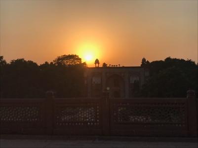 Coucher de soleil Indien - Humayun Tomb - Delhi - Inde