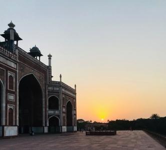 Coucher de soleil sur Humayun Tomb - Delhi - Inde