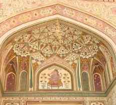 Détail de la Porte de Ganesh - Amber Palace - Rajasthan - Inde
