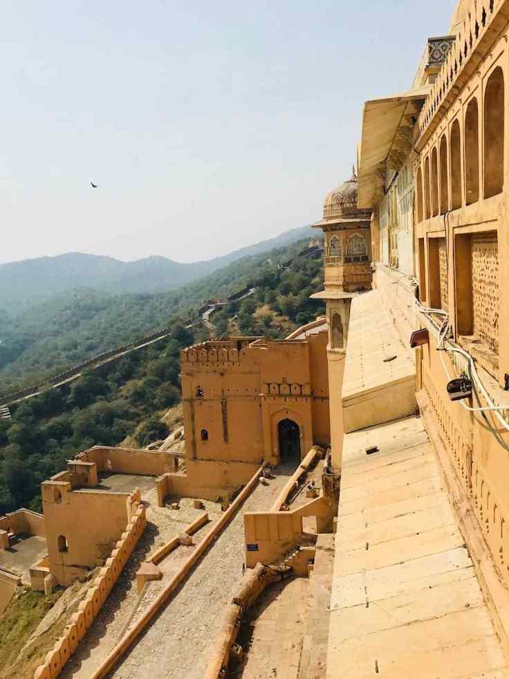 Rampe d'accès au Palais - Amber Palace - Rajasthan - Inde