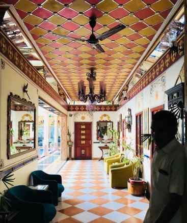 Couloir de notre joli hotel - Jaipur - Rakjasthan