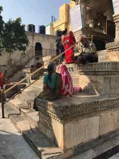 Sur les marches du Jagdish Temple - Udaipur - Rajasthan - Inde
