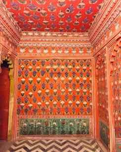 "Pièce ""toute rouge"" - City Palace - Udaipur - Rajasthan - Inde"