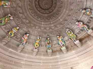 Détail de la coupole - Temple - Narlai - Rajasthan - Inde