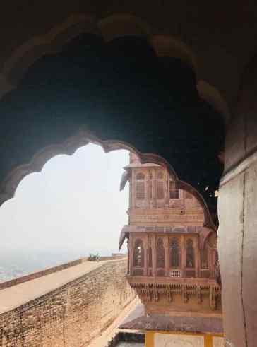 Vue sur les remparts et la ville - Fort de Jodhpur - Rajasthan - Inde