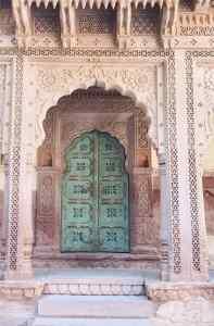 Porte dans le fort - Jodhpur - Rajasthan - Inde