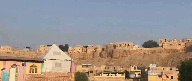 Le fort de Jaisalmer, sur les hauteurs de la ville - Rajasthan - Inde