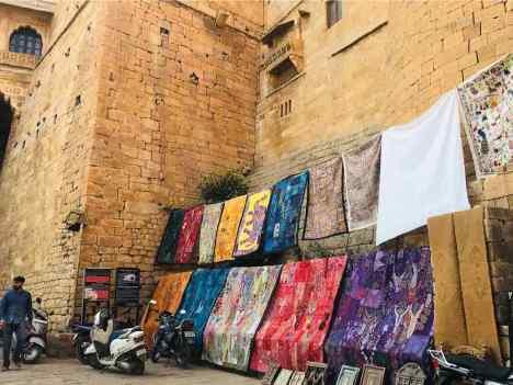 Couvertures à vendre - Jaisalmer - Rajasthan - Inde
