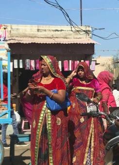 Derniers saris- Rajasthan - Inde