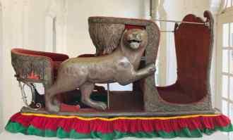 Chaise à éléphant en argent -Fort de Jodhpur - Rajasthan - Inde