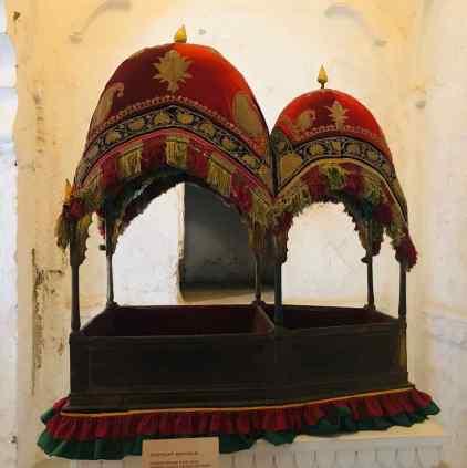 Chaise à éléphant -Fort de Jodhpur - Rajasthan - Inde