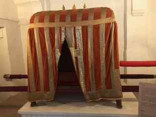 Chaise à porteur pour la reine-mère XXeme siècle -Fort de Jodhpur - Rajasthan - Inde