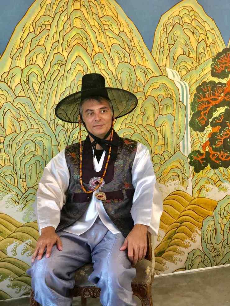 Geoffrey en habit traditionnel - Seoul - Corée