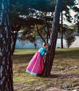 Eden en habit traditionnel - Seoul - Corée