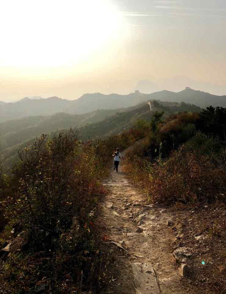 Je cours sur la grande muraille - Gubeiku - Chine