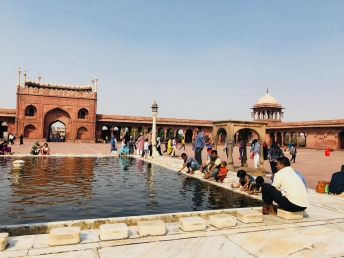 Bassin central de la Jama Masjid - Delhi - Inde