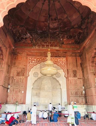 Fidèles dans la Jama Masjid - Delhi - Inde