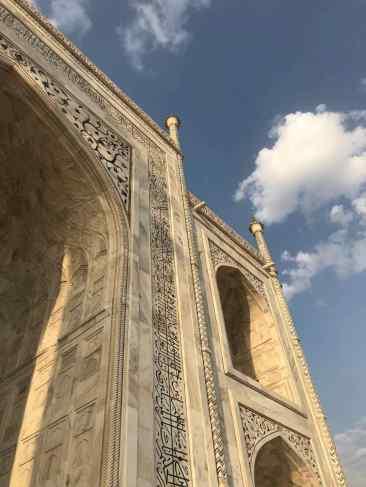 Inscriptions en Onyx incrustées dans le marbre - Taj Mahal - Agra - Inde
