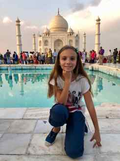 Eden devant le Taj Mahal - Agra - Inde