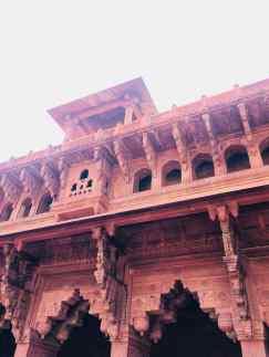 Dans le Fort Rouge d'Agra - Inde